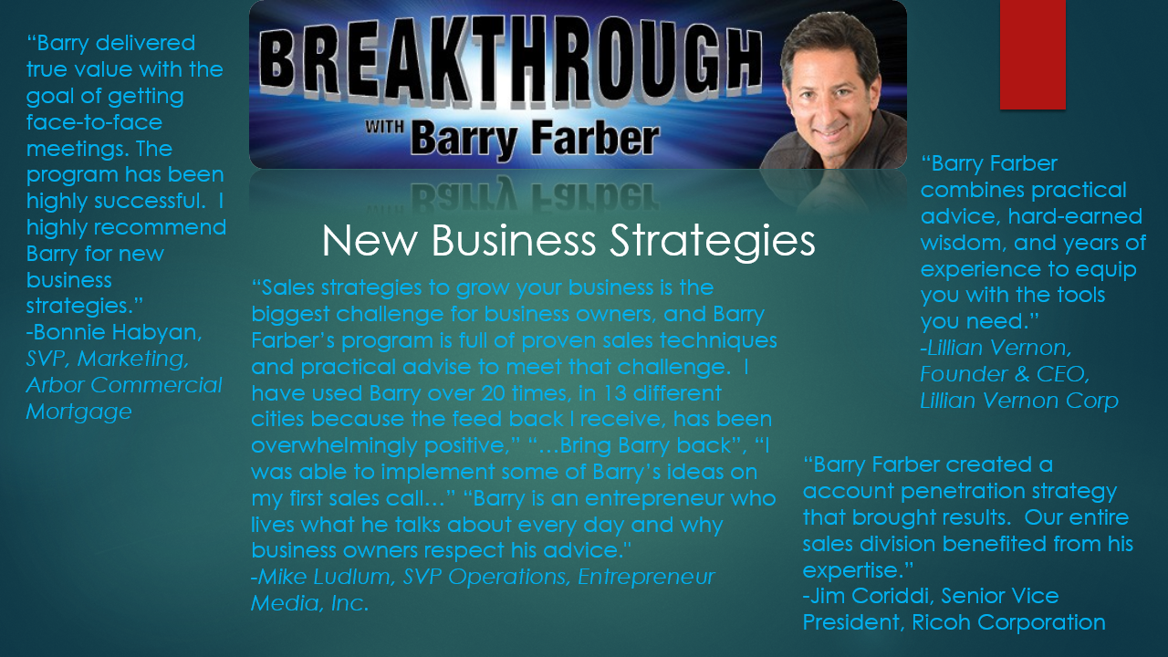 Barry Farber - Featured Consultant